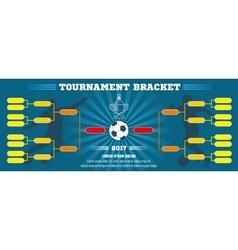 Soccer banner European football tournament vector image vector image