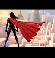 super heroine watch 2 vector image vector image