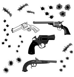 bullet holes vector image