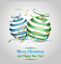 christmas and new year as a wish with blue and vector image vector image