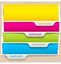 Colorful bookmarks and banners with place for text vector image vector image