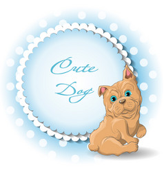 cute dog french bulldog vector image