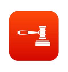 judge gavel icon digital red vector image vector image