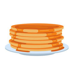 pancakes on plate vector image vector image