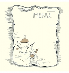 template for coffee menu vector image