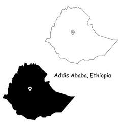 1065 addis ababa ethiopia vector image