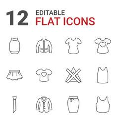 12 shirt icons vector image