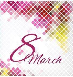 8 March Background vector image