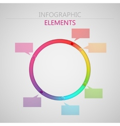 abstract 3d paper infographic elements for print vector image