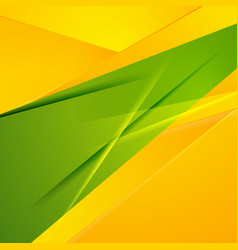 Abstract green orange shiny stripes modern vector