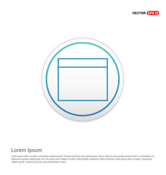 application window interface icon - white circle vector image