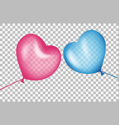 balls in shape of a heart aspire to each other vector image