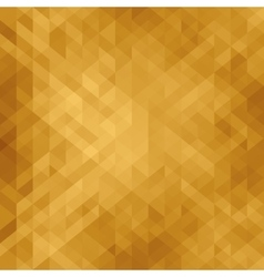 Beautiful golden background with triangle vector image