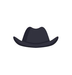 Black bowler hat carnival headdress element vector