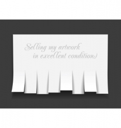 blank advertisement with cut slips vector image