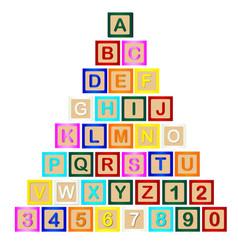 Block letter pyramid vector