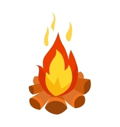 Bonfire isolated vector