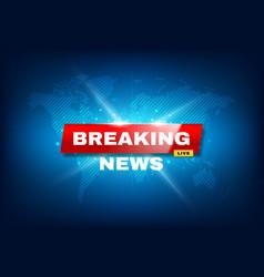 Breaking news tv screensaver urgent announcement vector
