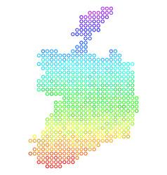 bright ireland republic map vector image