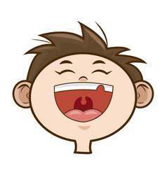 children boy happy face celebration party vector image
