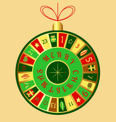 Christmas advent calendar christmas tree toy vector