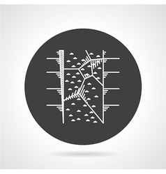Climbing wall black round icon vector