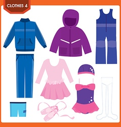 clothes4 vector image