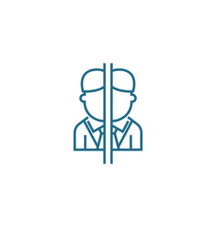 Conflict interest linear icon concept conflict vector
