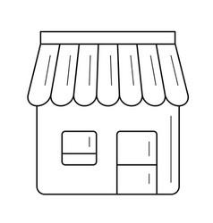 convenience store line icon vector image