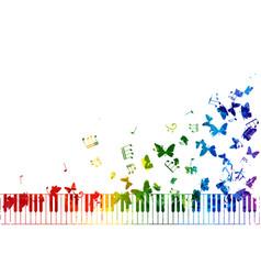 creative rainbow musical decoration element vector image