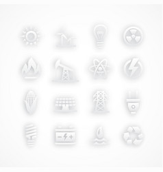 energy icons on white vector image