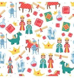 fairytale seamless pattern vector image