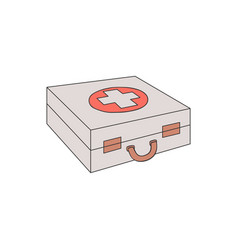 first aid kit case with red vector image