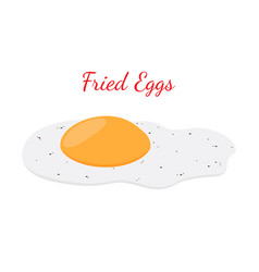 fried egg breakfast cartoon flat style vector image