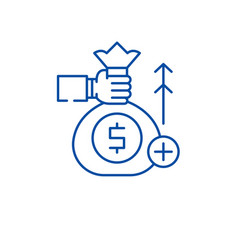 fundraising line icon concept fundraising flat vector image