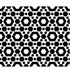 geometric seamless pattern black white hexagons vector image