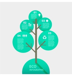 green tree sign infographic template vector image