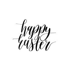 Happy easter calligraphy on white vector