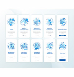 Healthcare services onboarding mobile app page vector