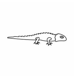 Iguana icon simple style vector