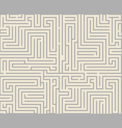intricacy labyrinth maze seamless pattern vector image