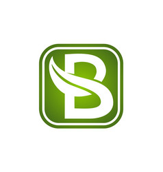 Letter b leaf vector