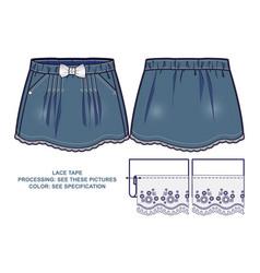 Light blue denim skirt vector
