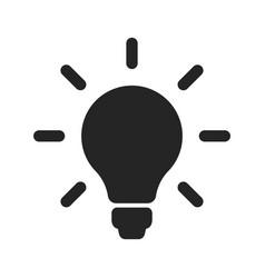 light bulb icon idea vector image