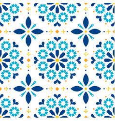 Lisbon azulejos tiles seamless pattern vector