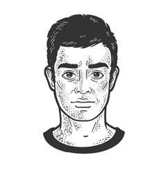 man face sketch vector image