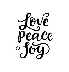 merry christmas typography love peace joy vector image