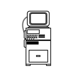Monitor cardiology clinic equipment support line vector