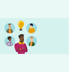 Multiracial businessmen discussing business ideas vector