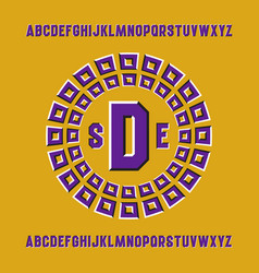 Optical illusion monogram template in round vector